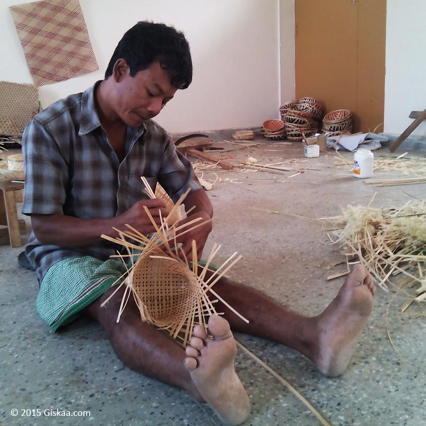 Bamboo artisan in Tripura